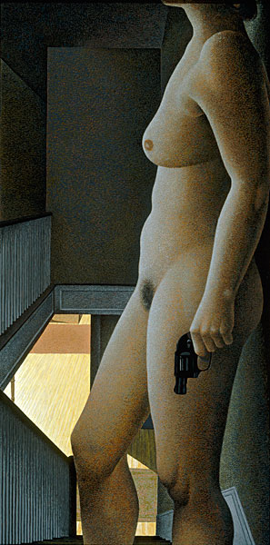 alex_colville_1987_woman_with_revolver